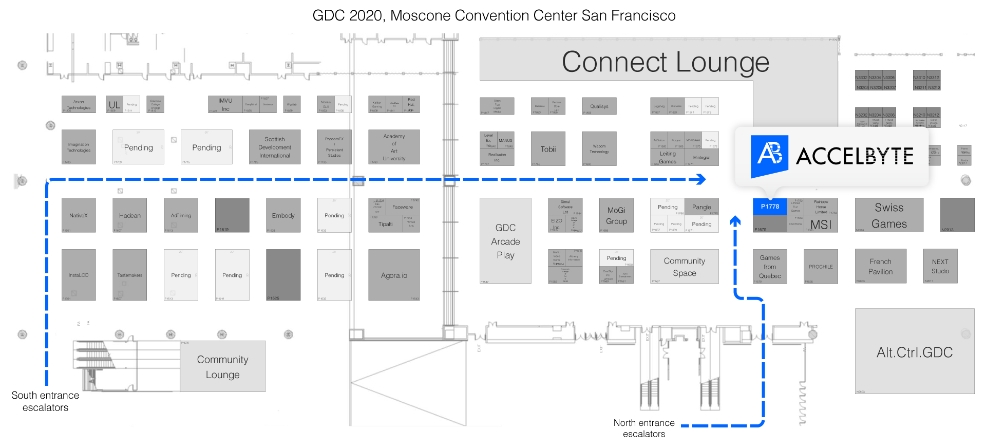 Game Developer Conference 2020 Floor Plan